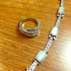 Lia Sophia Beautiful Bracelet & Matching Ring